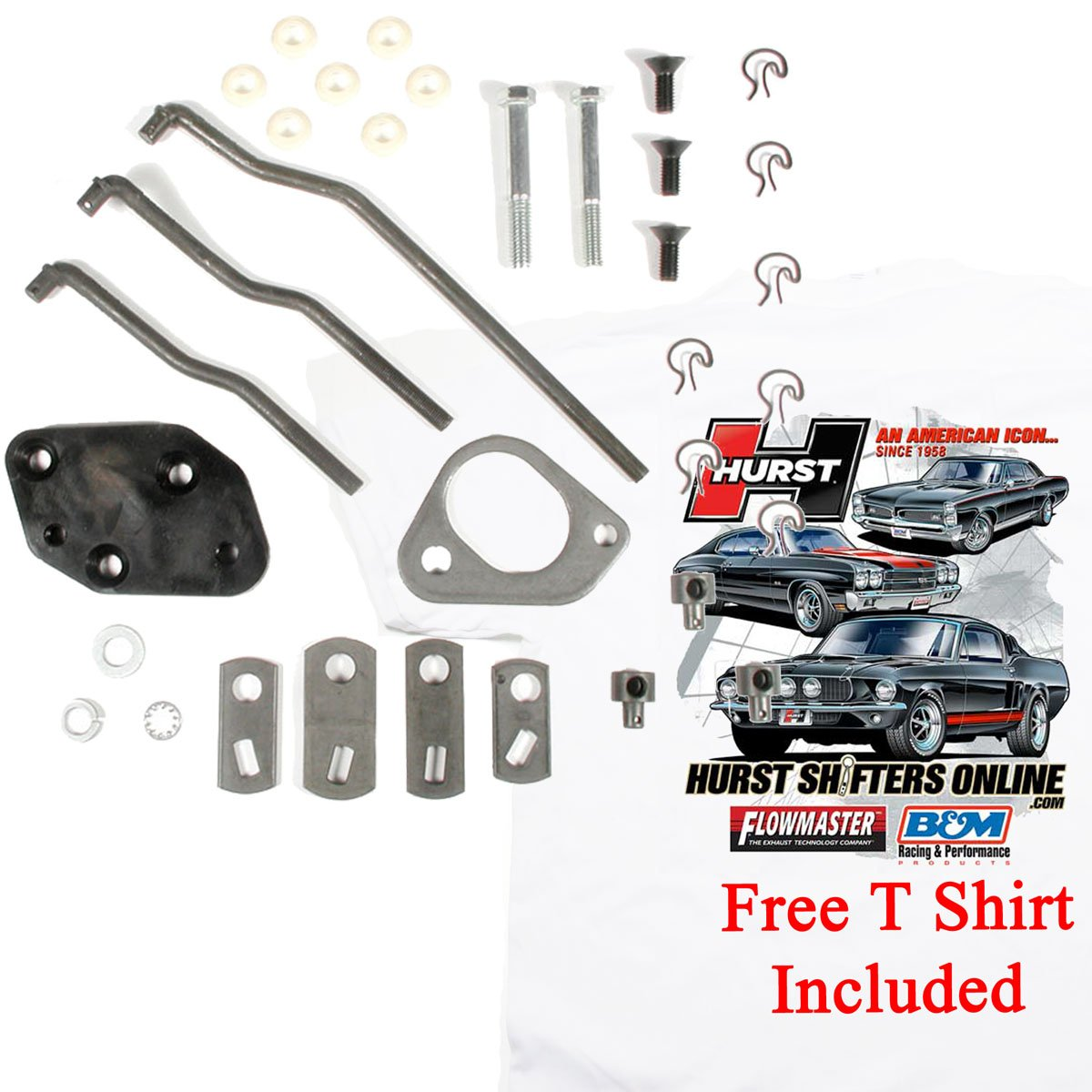 Hurst Comp 4 Speed Shifter Install Kit 1964 1970 Mopar B Body 422 A833 Plymouth Fog Lights Wiring Diagram W T Shirt